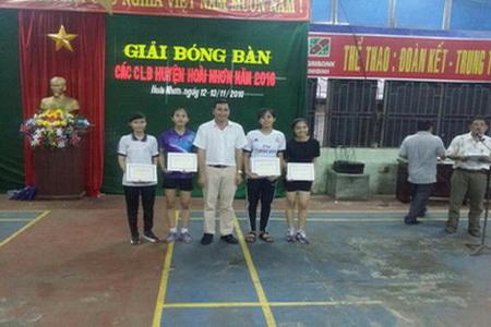 Giải bóng bàn các Câu lạc bộ Huyện Hoài Nhơn năm 2016